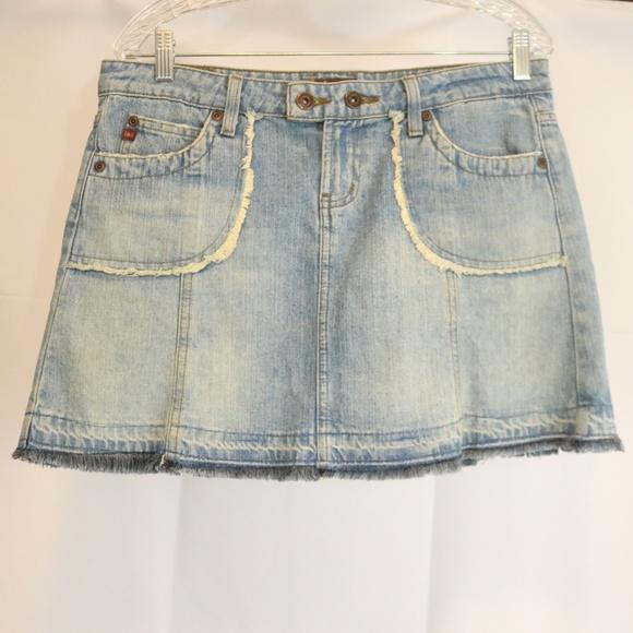 Clothing, Shoes & Accessories Euc L.e.i Blue Jean Mini Skirt Size 1